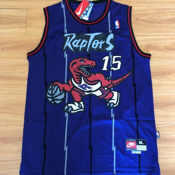 3254f1d8e Vince Carter  15 Toronto Raptors Throwback Jersey. NWT. Nike